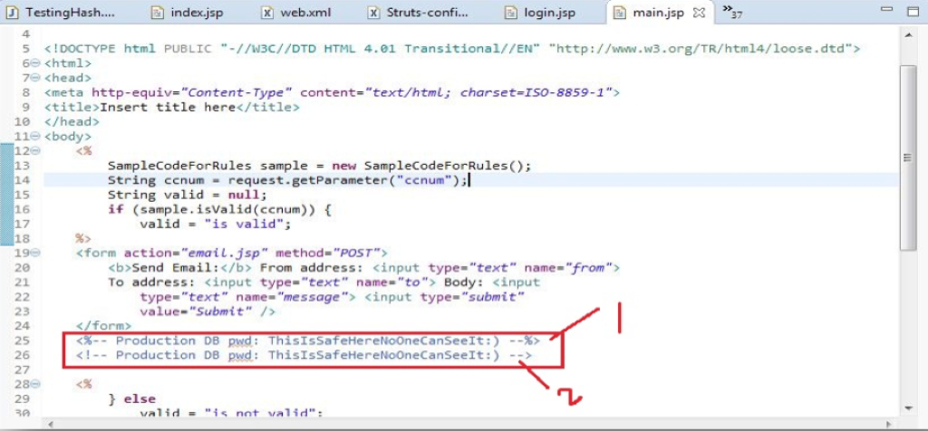 How to write a comment in html code
